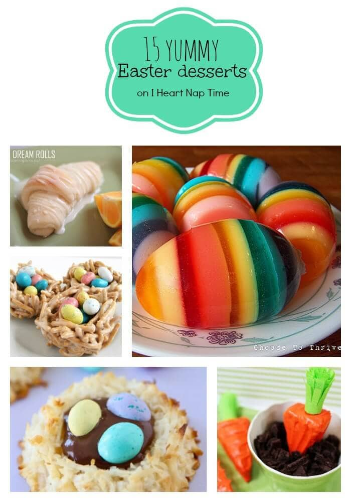 a collage of different easter desserts