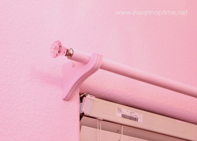 How to make a curtain rod with clothespins - I Heart Nap Time