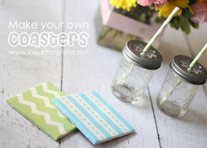 how to make coasters for under a buck pictured tutorial