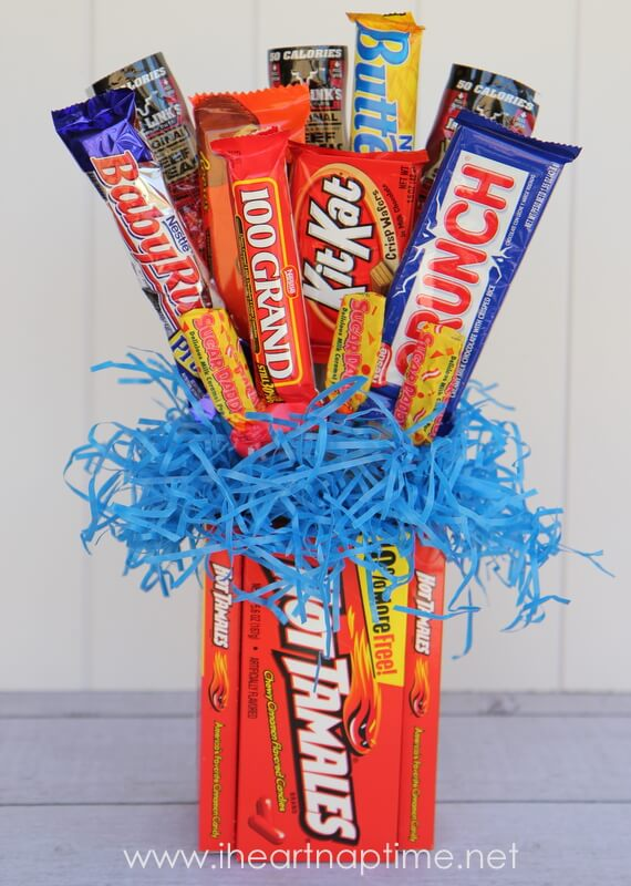 How To Make Chocolate Flower Basket : Candy bouquet tutorial i heart nap time