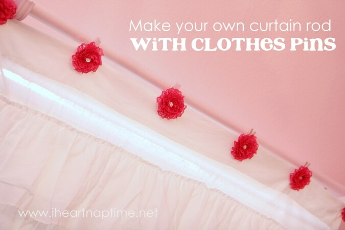 how to make a curtain rod