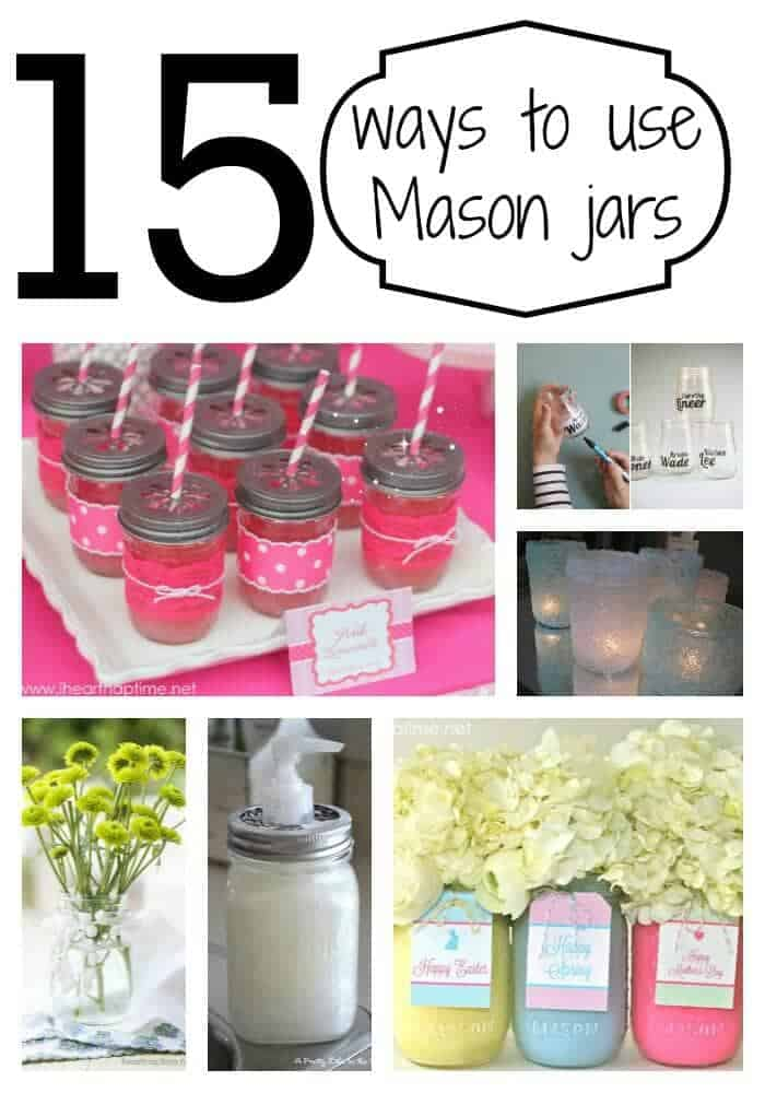 Creative ways to use Mason jars on I Heart Nap TIme