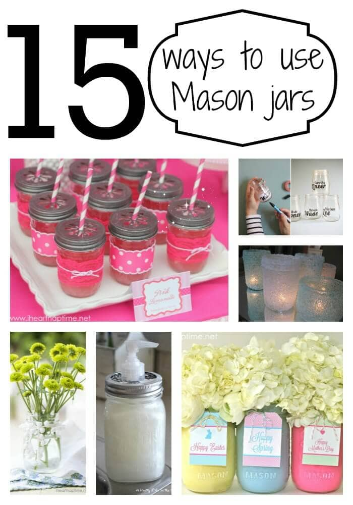Creative ways to use Mason jars on I Heart Nap TIme