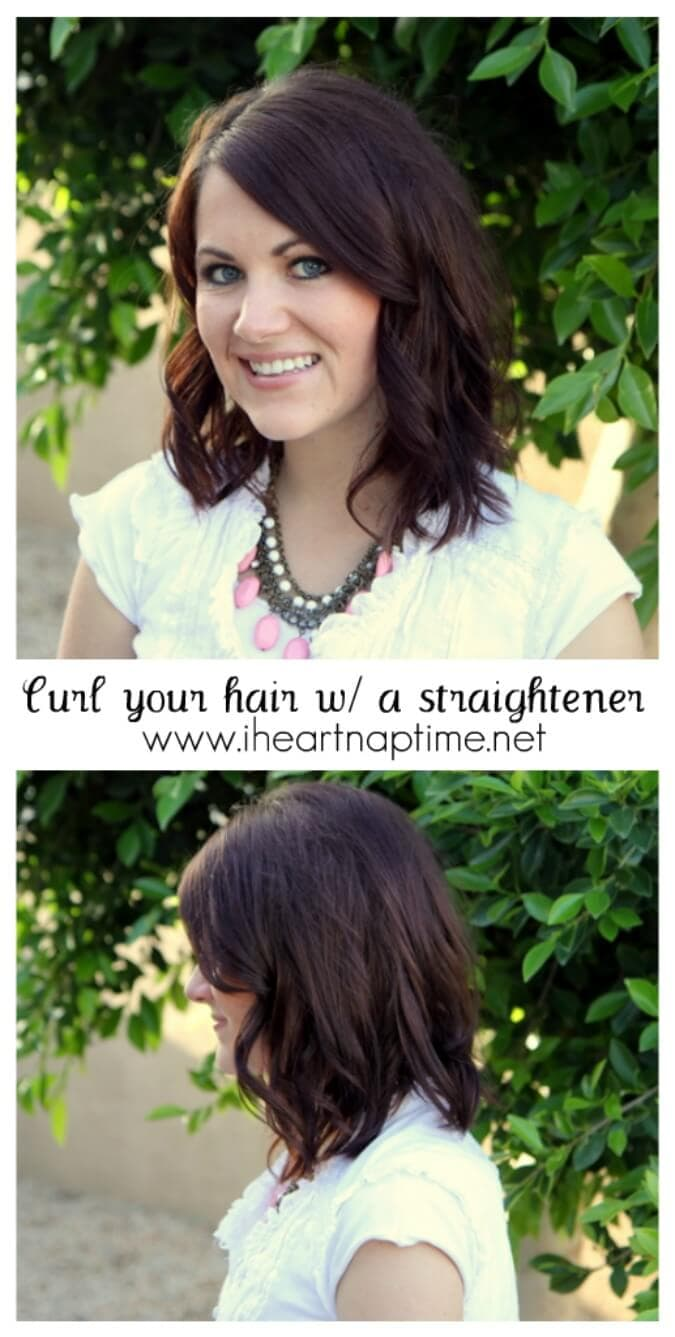 How To Curl Your Hair With A Straightener Video Tutorial