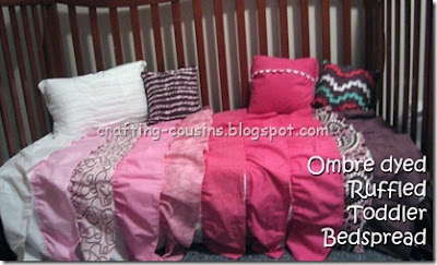 make a toddler bed spread