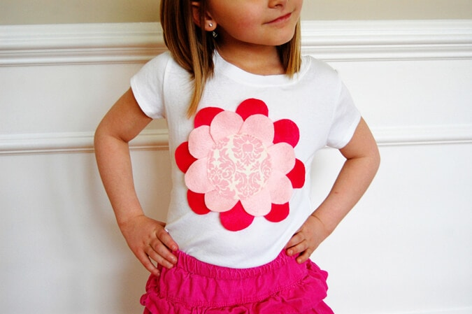 Flower petal shirt