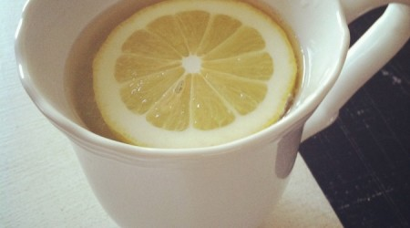 hot lemon water