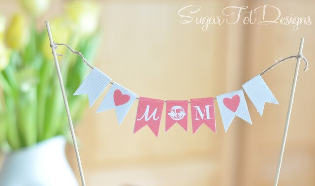 Mother's Day Cake Banner