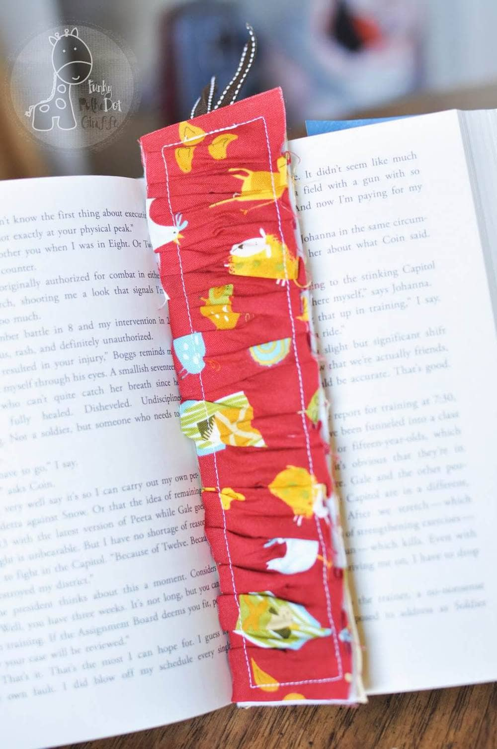 15 awesome teacher gift ideas ruffled bookmark from funky polka dot giraffe negle Images