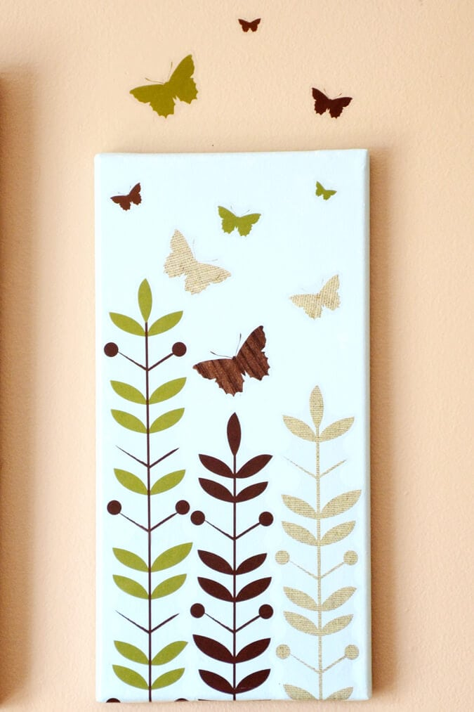 Butterfly canvas wall art diy : Butterfly canvas art i heart nap time