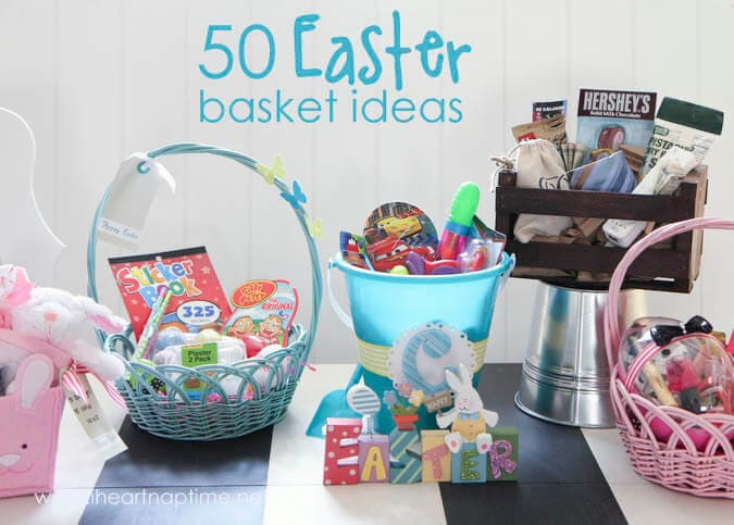 50 non-candy Easter basket ideas on iheartnaptime.com ...a must see list!