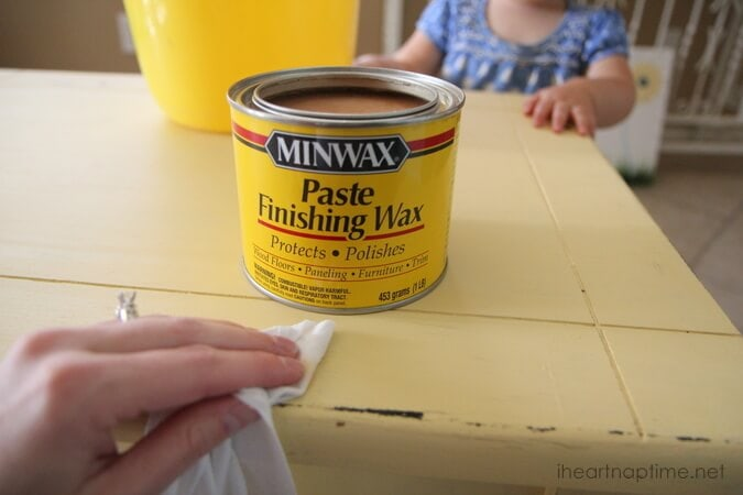 wax furniture. How to make chalk paint   Pictured  TUTORIAL