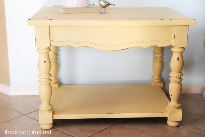 How To Chalk Paint Distressed Furniture