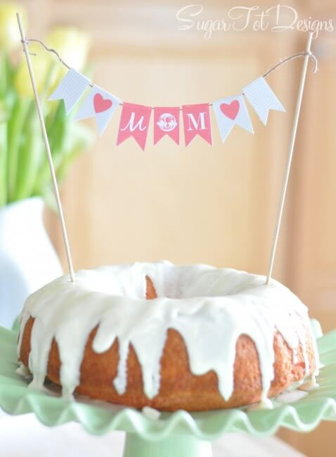 Mothers Day Cake Banner