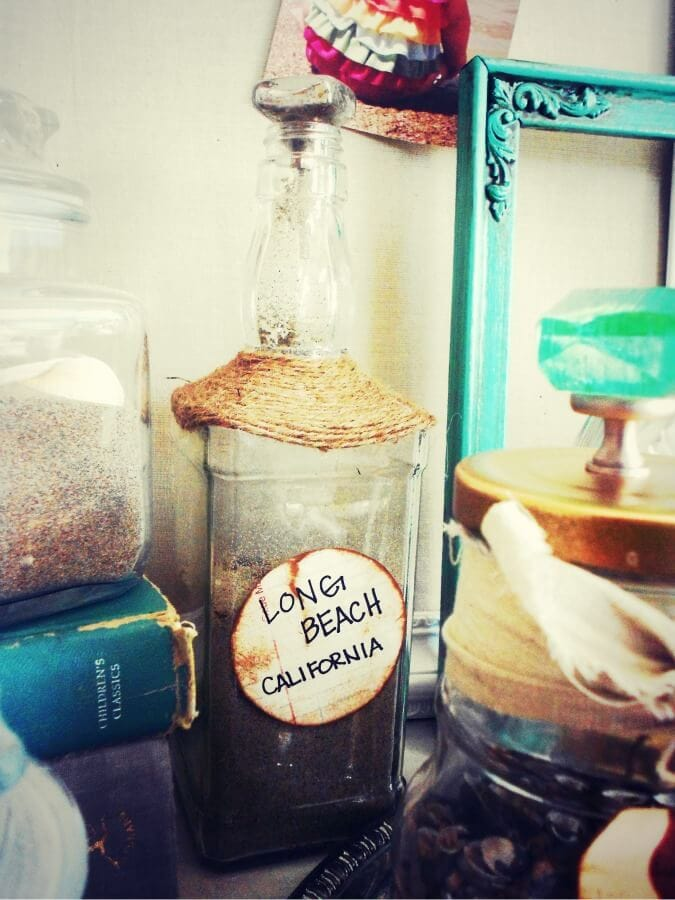 decorating with old bottles