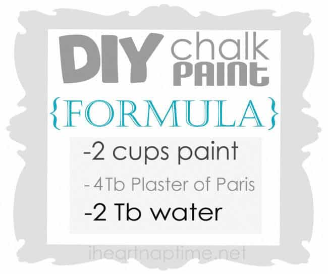 how  to make chalk paint on iheartnaptime.com #DIY
