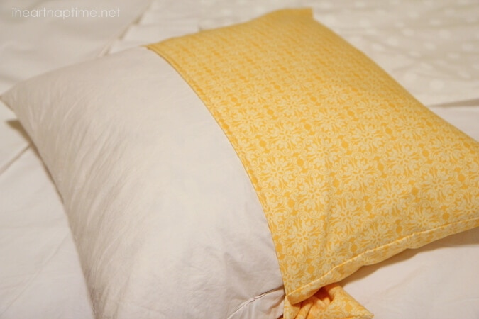 how to sew a pillowcase (in 20 minutes) - i heart nap time Making Decorative Pillow Covers