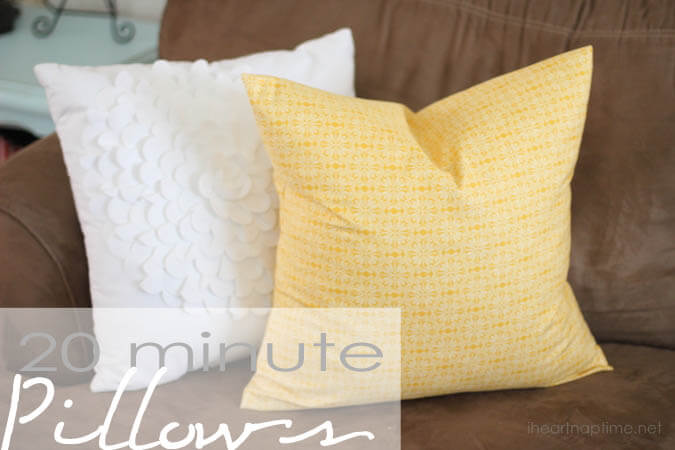 Easy To Sew Throw Pillows: How To Sew A Pillowcase (In 20 Minutes)   I Heart Nap Time,