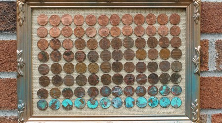ombre penny art diy tutorial