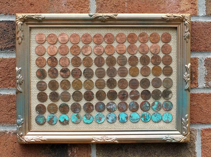 ombre penny art diy tutorial