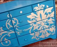 stenciled dresser 11
