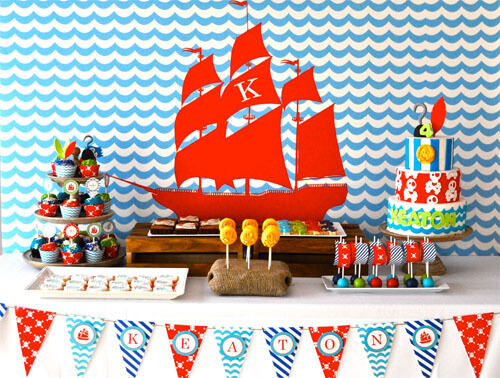 neverland birthday party table