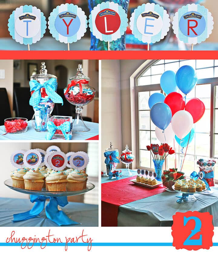Chuggington Party from Tiffany Bills Designs