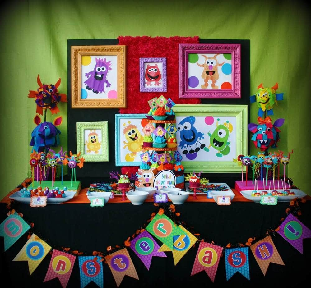 Outstanding Monster Birthday Party Ideas 1600 x 1483 · 325 kB · jpeg
