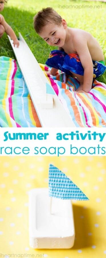 Kids Craft Soap Boats