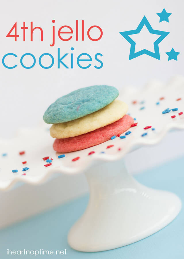 fourth of july jello cookies