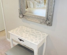 blue white stenciled furniture (1)