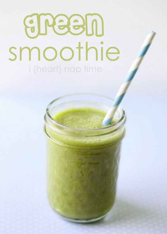 Favorite green smoothie recipe... you won't even know there's spinach in there! #healthy #recipes