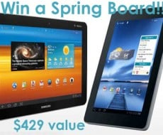 Win a T-Mobile-springboard-galaxy-tab $429 value