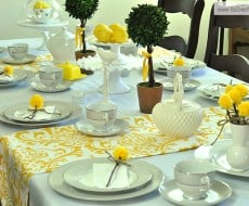 yellow-tea-party-yellow-pompoms-