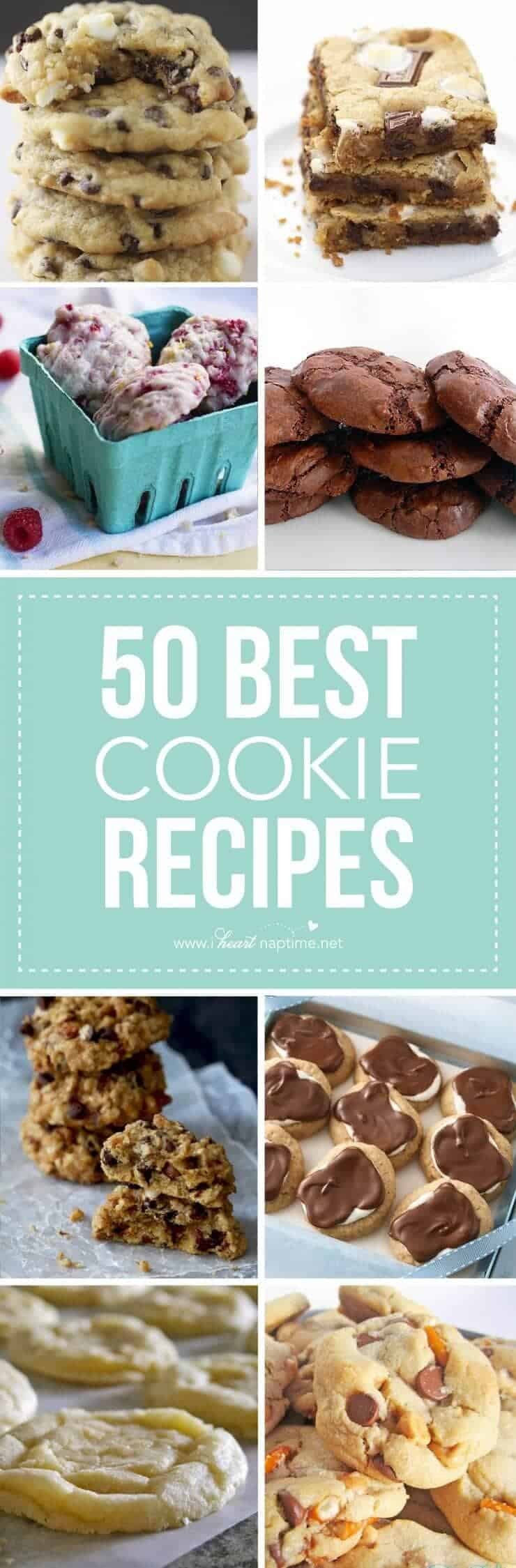 50 of the BEST cookie recipes -so many yummy new favorites to try!