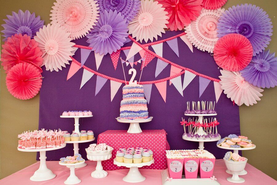 Ordinary Birthday Theme Decoration Ideas Part - 2: Pink ...