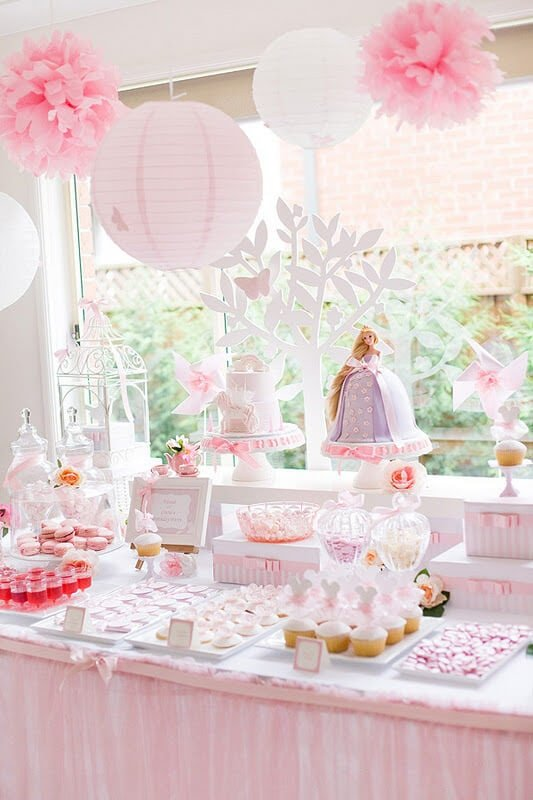 50 birthday party themes for girls i heart nap time for Baby girl birthday decoration pictures