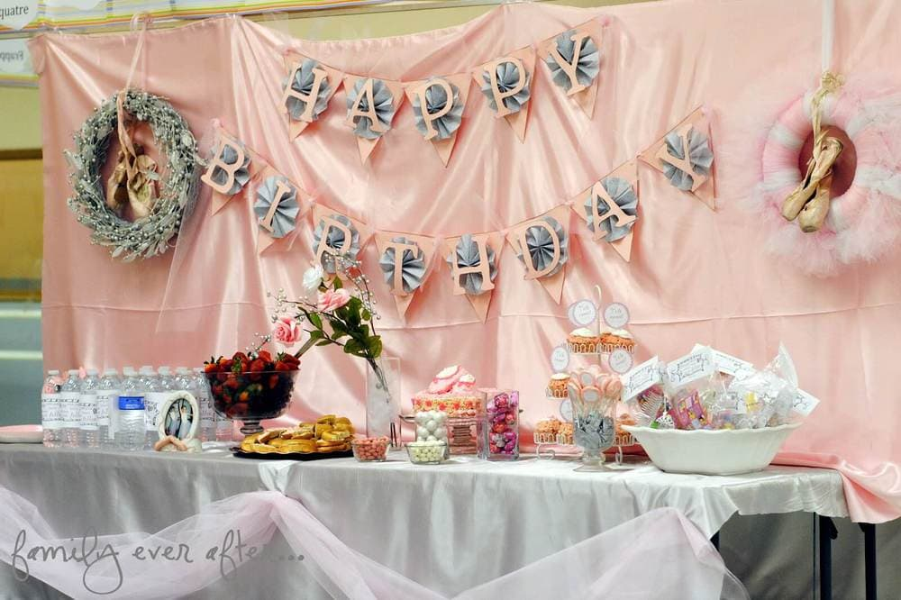 Birthday table decorations for girls - Ballet Birthday