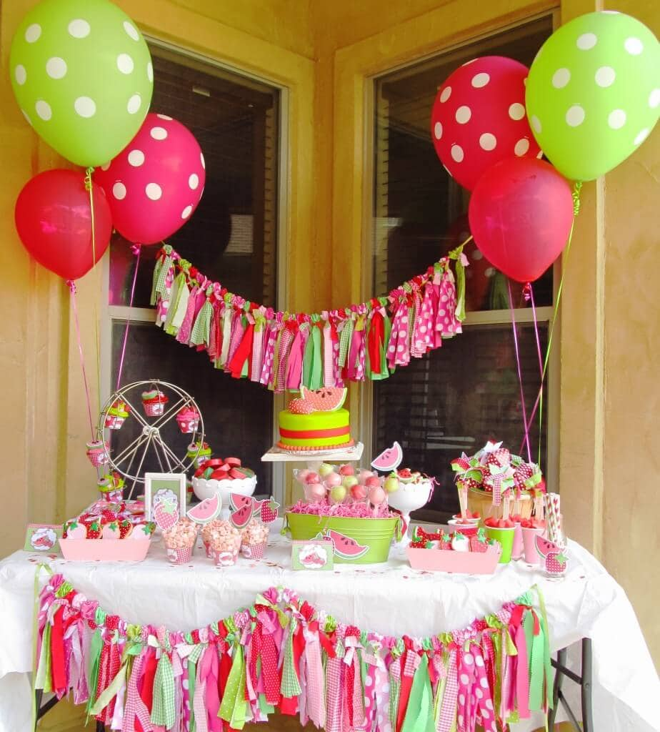 watermelon party from whimsical printables - Party Decorating Ideas For Adults
