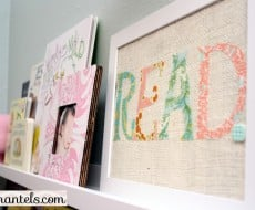 Learn how to make this cute fabric word art #tutorial #craft