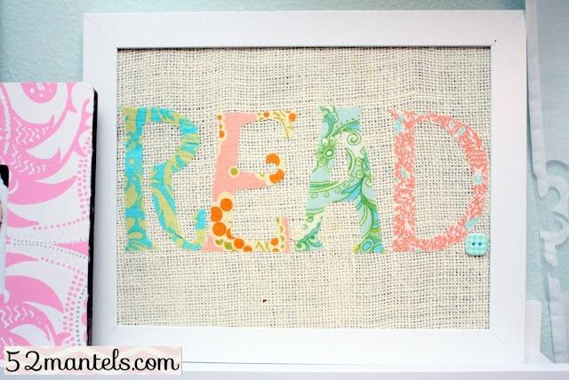 Fabric Word Art