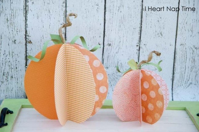 best halloween crafts spooky treats paper pumpkins - Cute Halloween Crafts