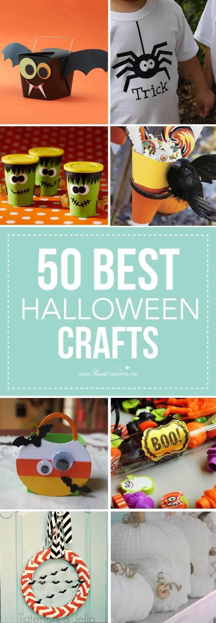 50 of the BEST Halloween craft ideas!