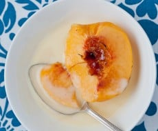 Brûléed peach dessert on iheartnaptime.net . These look absolutely delicious!