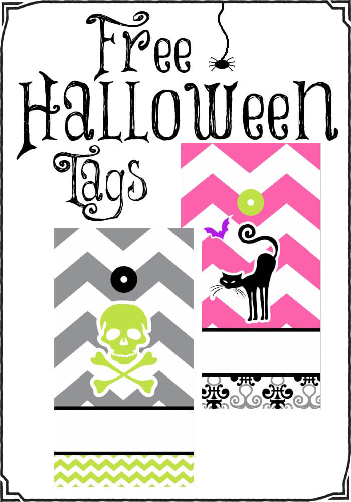Free printable Halloween Tags -perfect for trick or treating!