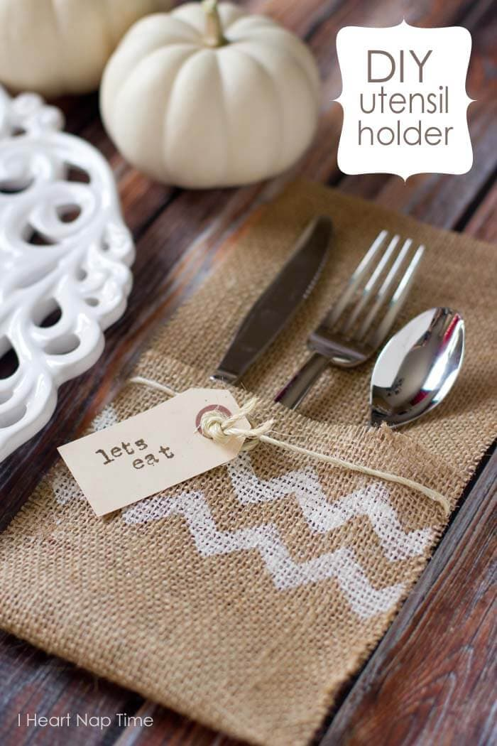 burlap craft utensil holders i heart nap time