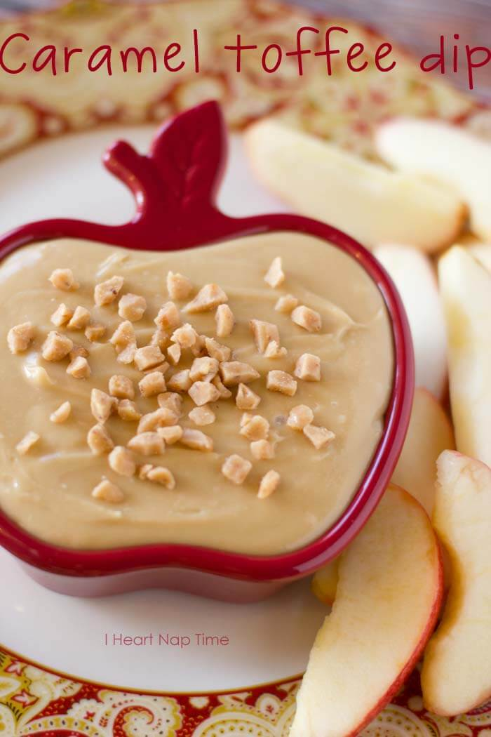 Caramel apple toffee dip from iheartnaptime.net . A delicious snack your whole family will love! #recipes
