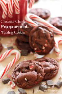 Chocolate Chunk Peppermint Pudding #Cookies by Chef In Training on iheartnaptime.net