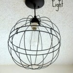DIY Hanging Orb Light