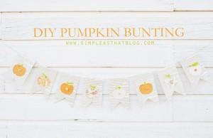 DIY Pumpkin Bunting